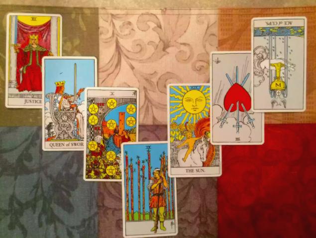 La lettura a ferro di cavallo delle sette carte